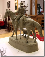 Bass Reeves Statue Clay Maquette 003